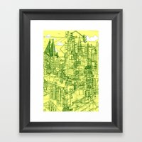 San Francisco! (Yellow) Framed Art Print