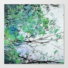 Autumn 5 Green Canvas Print