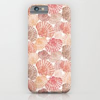iPhone & iPod Case featuring Mid Shells: Pink corals by Eileen Paulino