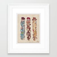 Working Man's Beard Framed Art Print