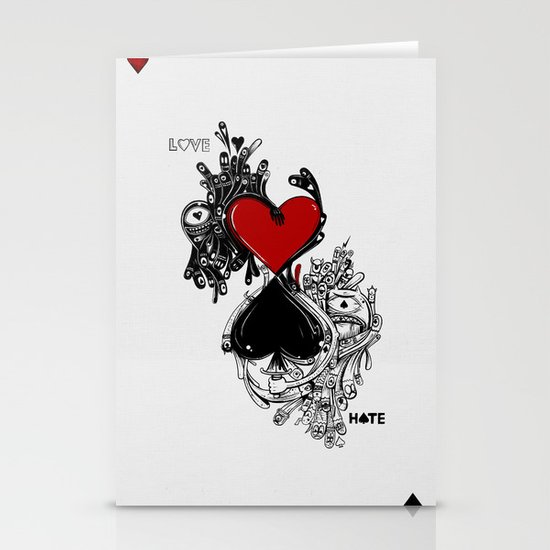 Love Hate Stationery Card