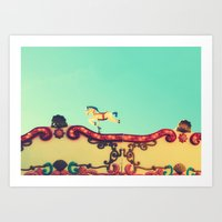 The hidden funfair horse Art Print