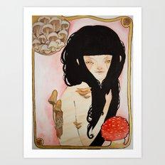 Amanita - Mushroom Death Art Print
