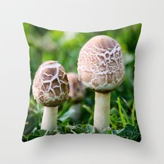 A Couple of Shrooms Throw Pillow