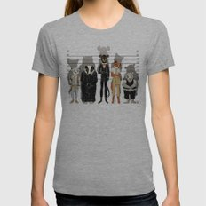 Unusual Suspects Womens Fitted Tee Athletic Grey MEDIUM