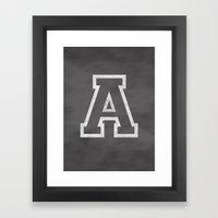 Letter A Framed Art Print