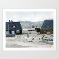 North Fishing Village Art Print