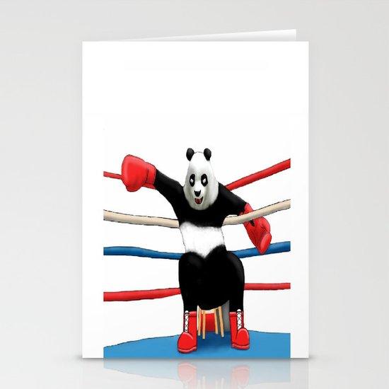 Boxing Panda Stationery Card