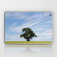 Oak tree landscape Laptop & iPad Skin