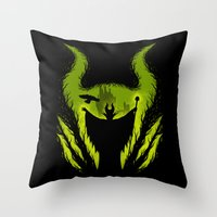 The Evil Fairy Throw Pillow