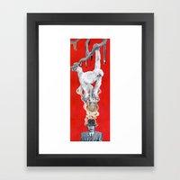 Monkey Hatter Framed Art Print