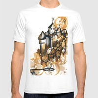 Castle Float Mens Fitted Tee White SMALL