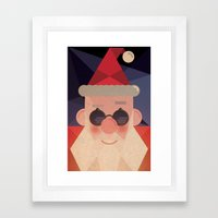 Guess who's coming ! Framed Art Print