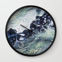 Gauley River Blues Wall Clock