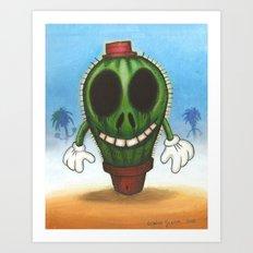 Cactus in freedom Art Print
