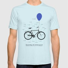 Anatomy Of A Bicycle Mens Fitted Tee Light Blue SMALL