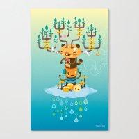 Cloud Music Canvas Print