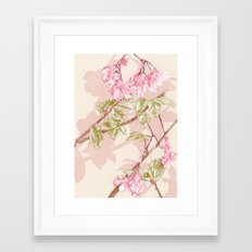 Flower Sketch Framed Art Print