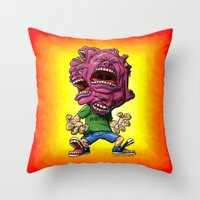 Not Enough Mouths To Scream It Out Throw Pillow