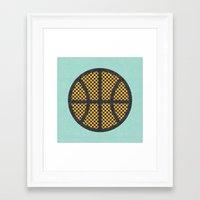 Op Art Basketball. Framed Art Print