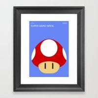 Poster Nintendo Super Ma… Framed Art Print