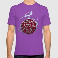 I Want You To Want Me Mens Fitted Tee Ultraviolet SMALL