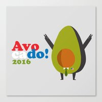 Avocado For President! Canvas Print