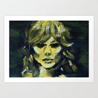 THE YELLOW QUICK PORTRAIT Art Print