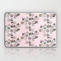Handdrawn Flower Pattern Laptop & iPad Skin