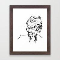 Old women Framed Art Print
