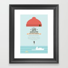 The Life Aquatic with Steve Zissou - minimal poster Framed Art Print
