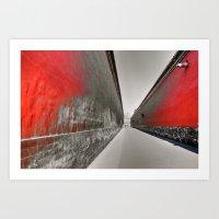 Walkway Inside Of The Fo… Art Print