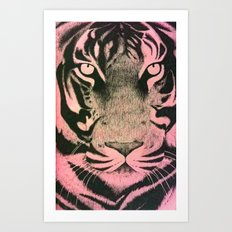 Be a Tiger (Pink) Art Print