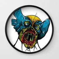 Zombie Wolverine Wall Clock