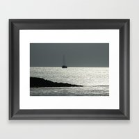 The crystal ship Framed Art Print