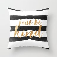 Throw Pillow featuring Just Be Kind by Jenna Davis Designs