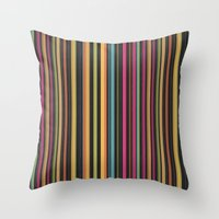 Dazzling Midnight [Lines… Throw Pillow