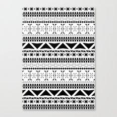Black & White Pattern Canvas Print