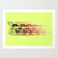 Motorcycle Rider Art Print
