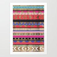 Cheyenne Tribal Stripe Art Print