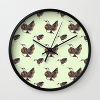 Green Hummingbirds Wall Clock