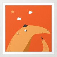 The Anteater And The Ant Art Print