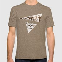The Hipster Tiger Mens Fitted Tee Tri-Coffee SMALL