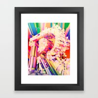 No. 26 Zine - Letter R Framed Art Print
