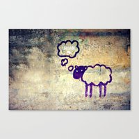Urban Sheep Canvas Print