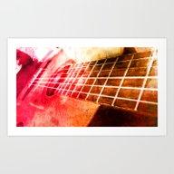 Color Guitar Art Print
