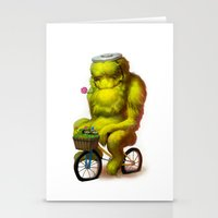 Bike Monster 1 Stationery Cards