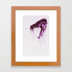 Painted Skull Purple Framed Art Print