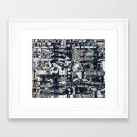 Screen Grid, Tile 1 Framed Art Print
