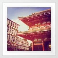 Sinsoji Temple, Tokyo Art Print